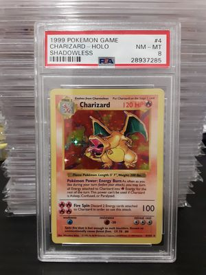 Shadowless Charizard psa 8 pokemon card for Sale in Alexandria, OH