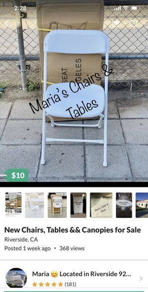 New Chairs, Tables && Canopies for Sale for Sale in Riverside, CA