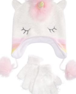 Abg Big Girls 2-Pc. Unicorn Hat & Gloves Set with Faux-Fur Trim for Sale in Bloomfield,  NJ