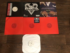 Lot of Vinyl Records Rap and R&B Records Classic Three Six Mafia 36Mafia Limp Bizkit Nas Lost Tapes Isley Brothers Def Jam Vendetta for Sale in Corona, CA