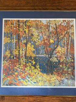 Tom Thomson The Pool 1915-1916 Print And Gold accent color Frame for Sale in Cedar Park,  TX