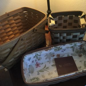 Three Longaberger baskets for Sale in Lorain, OH