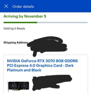 NVIDIA GeForce RTX 3070 Founders Edition 8GB GDDR6 Graphics Card CONFIRMED ORDER for Sale in Mesquite, TX