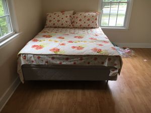 Queen mattress with bed frame for Sale in Charlottesville, VA