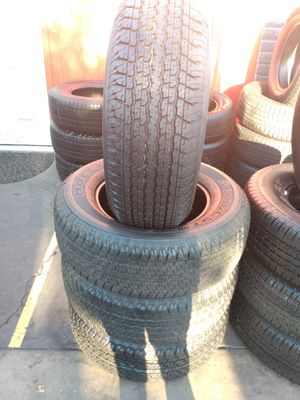 Set of semi new 265/65/17 Bridgestone for Sale in Whittier, CA
