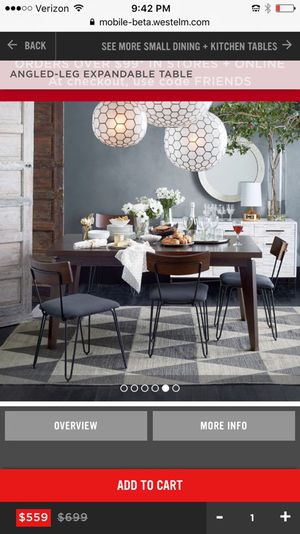 West Elm Angled Leg Table for Sale for sale  Brooklyn, NY