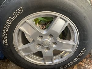 Set of four Jeep wheels and tires for Sale in Largo, FL