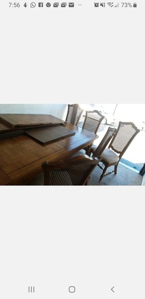 Maple wood table and 7 chairs for Sale in Phoenix, AZ