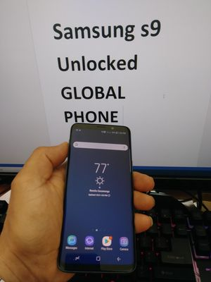 Samsung galaxy s9 global phone UNLOCKED Tmobile metro sprint for Sale in Fontana, CA