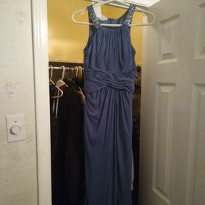 Size 2 David's Bridal Steel Blue Dress for Sale in Glassboro, NJ