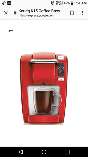 Small single serve Kuerig coffee maker for Sale in Fort Myers, FL
