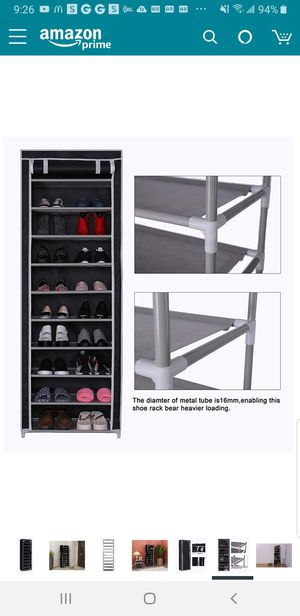 J03 - Shoes Rack 10 Tiers, 30 Pairs for Sale in Santa Ana, CA