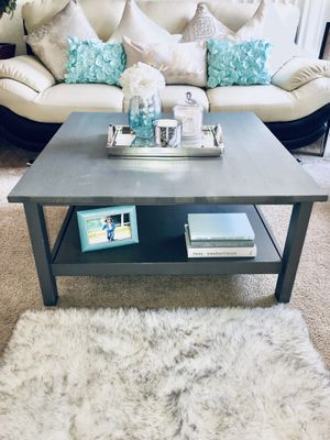 Grey Square Coffee Table (decor not included) for Sale in Las Vegas, NV