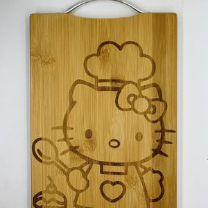HelloKitty bake laser engraved bamboo high quality cuttingboard valentines gift for Sale in Los Angeles, CA