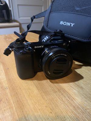 Sony Alpha A6000 Digital Camera - Black with 16-50mm Power Zoom Lens for Sale in Huntington Beach, CA