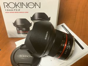 Rokinon 12mm 2.0 Lens for Canon M mount for Sale in Philadelphia, PA