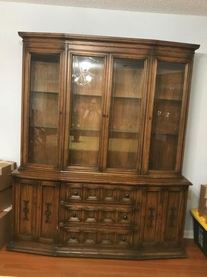 Solid wood antique china set for Sale in Fort Lauderdale, FL