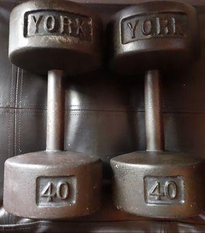 York 40 lb dumbbells for Sale in Columbus, OH