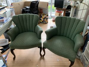 Free upholsteried chairs plus other furniture and mini refrigerator call Greg {contact info removed} for Sale in Burien, WA