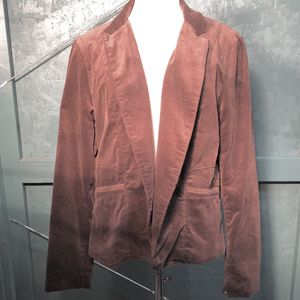 Calvin Klein Jeans One Button Corduroy Blazer Jacket Lined Brown XL Runs Small for Sale in Tenino, WA