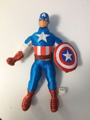 Marvel Captain America stuffed toy hard head for Sale in Herndon, VA