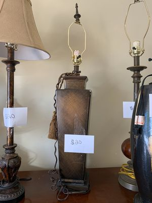 Bronze Square Base Lamp for Sale in Nolensville, TN
