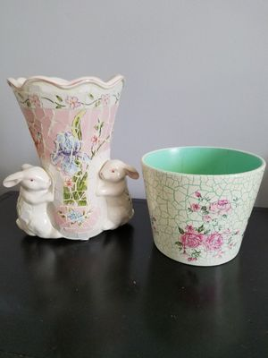 Two Ceramic Vases or Planters for Sale in St. Louis, MO