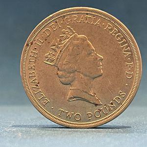 Dove 2£ Error Coin for Sale in San Jose, CA
