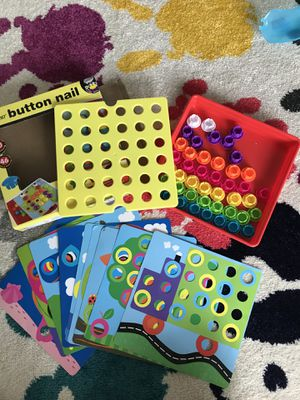 Button nail art puzzle for kids for Sale in Sunnyvale, CA
