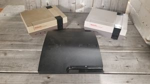 (2) Two NES 001 Consoles and (1) One PS3 console. for Sale in Tacoma, WA