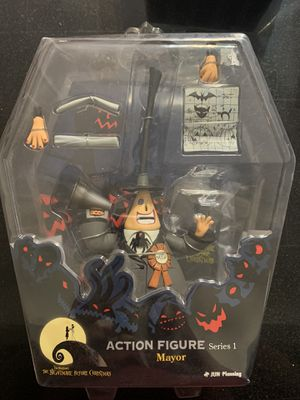The Nightmare Before Christmas Mayor Action Figure 2008 Series1 Jun Planning for Sale in El Paso, TX