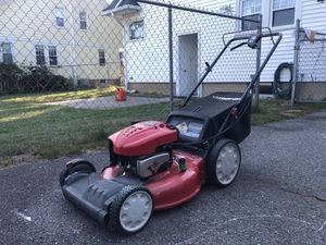 "Troy-Bilt 21"" 190cc High Wheel Self-Propelled Mower and gas can for Sale in Longmeadow, MA"