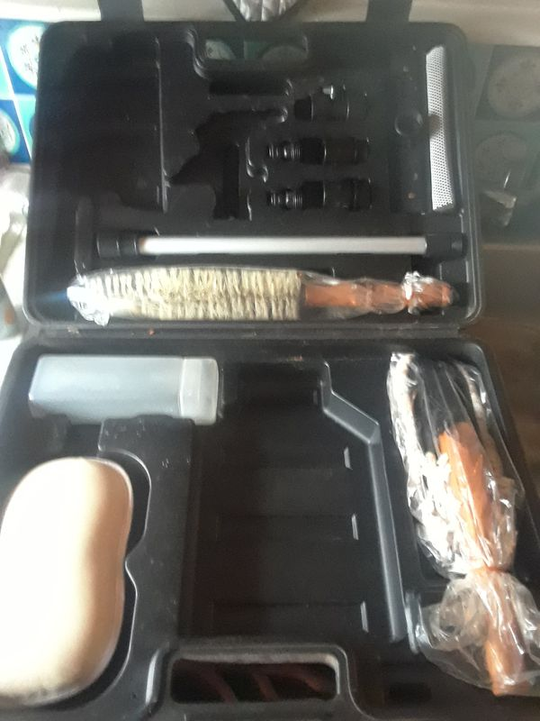 Car detailing kit in the case