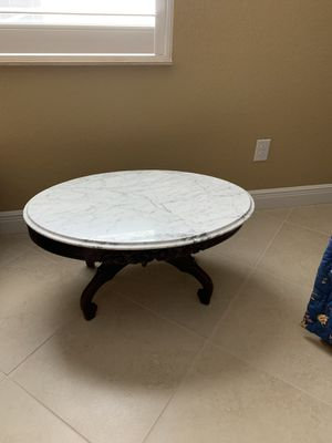 Antique tables (3) marble top, walnut base. for Sale in Port Charlotte, FL