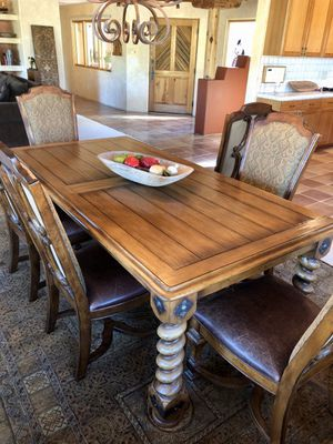 *REAL WOOD* Dining Table & 6 Chairs for Sale in Scottsdale, AZ