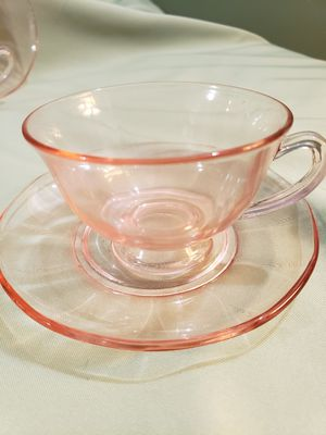 Pink depression glass for Sale in Downey, CA
