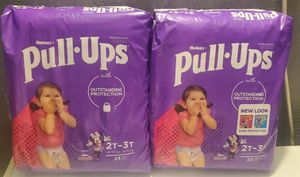 Huggies Pull-ups girl size 2T - 3T for Sale in Mesa, AZ