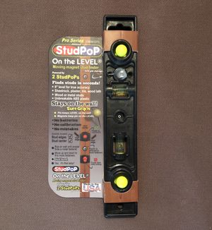 StudPoP On the LEVEL moving magnetic stud finder for Sale in Spring Valley, CA