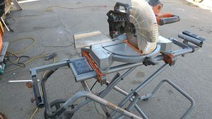 Rigid compound miter saw with stand for Sale in Oakland, CA