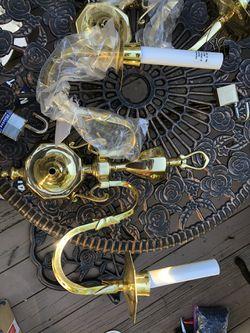 2 Quorum International light fixtures, Brass for Sale in Alexandria,  VA