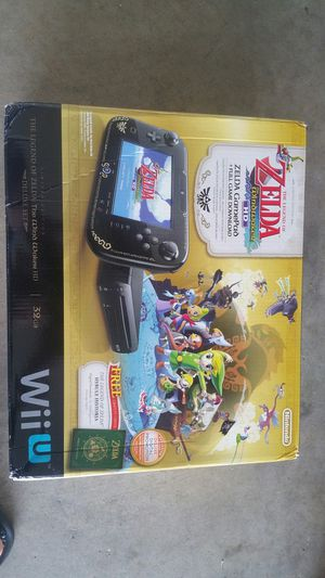 Nintendo Wii U Zelda edition system complete for Sale in Queen Creek, AZ