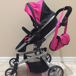 """Doll Stroller Adjustable Handle And Seat 31"""" Tall for Sale in Clermont, FL"""