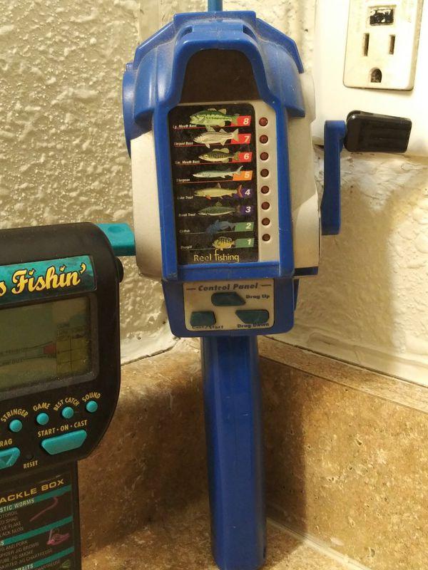 4 radica fishing reels electronic games works fine needs batteries