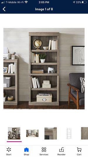 Better Homes & Gardens Glendale 5 Shelf Bookcase, Rustic Gray Finish for Sale in Orange, CA