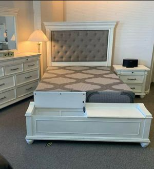 ♨️♨️ Best Offer ♨️SPECIAL] Kanwyn Whitewash Upholstered Storage Bedroom Set by Ashley 🙋‍♀️🙋‍♀️🙋‍♀️ for Sale in Jessup, MD