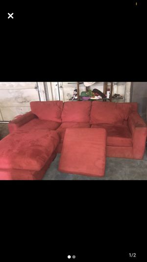 Sofa with chaise lounge for Sale in Richmond, VA