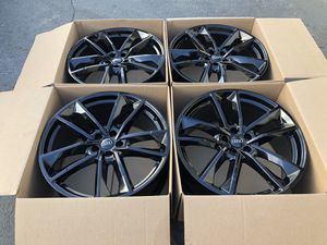 "21"" Audi A8 S8 RS7 Original Factory Rims OEM wheels black for Sale in Huntington Beach, CA"