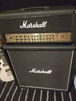"Marshall 2000 AVT150H HYBRID PRETUBE GUITAR AMP & Marshall JCM900 1960 Lead 4x12"" 300Watt CAB With Foot Controller for Sale in Rancho Santa Margarita, CA"