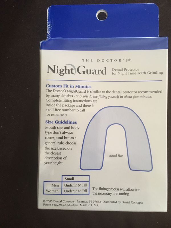 The Doctor's Nightguard - Small (brand new)