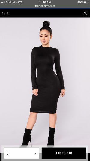 Fashion nova black dress for Sale in Riverside, CA